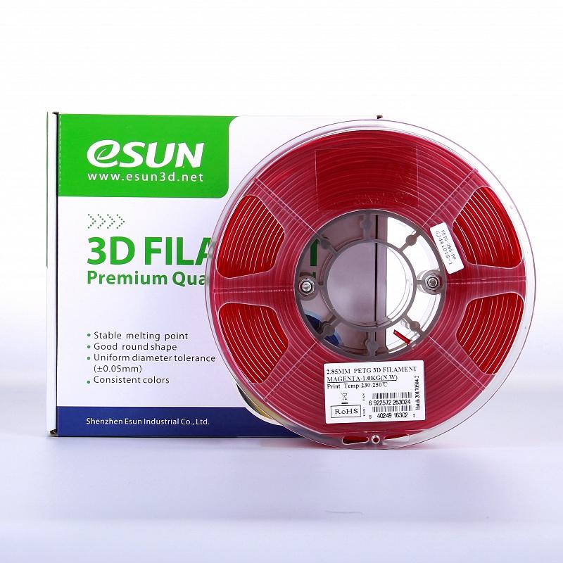 Фото PETG-пластика ESUN 1.75 мм 1кг., красный 2