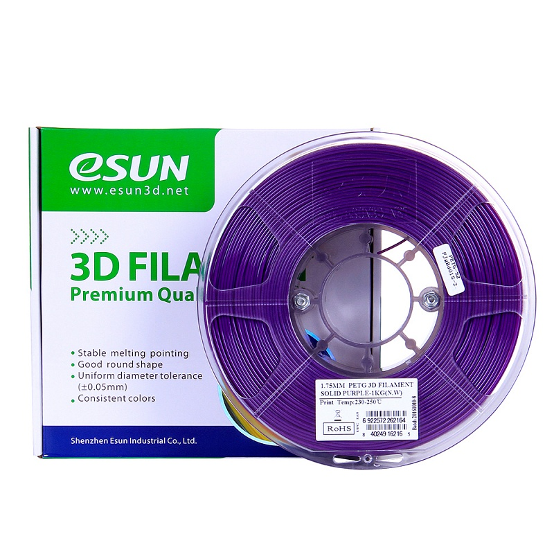 Фото PETG-пластика ESUN 1.75 мм 1кг., пурпурный 2