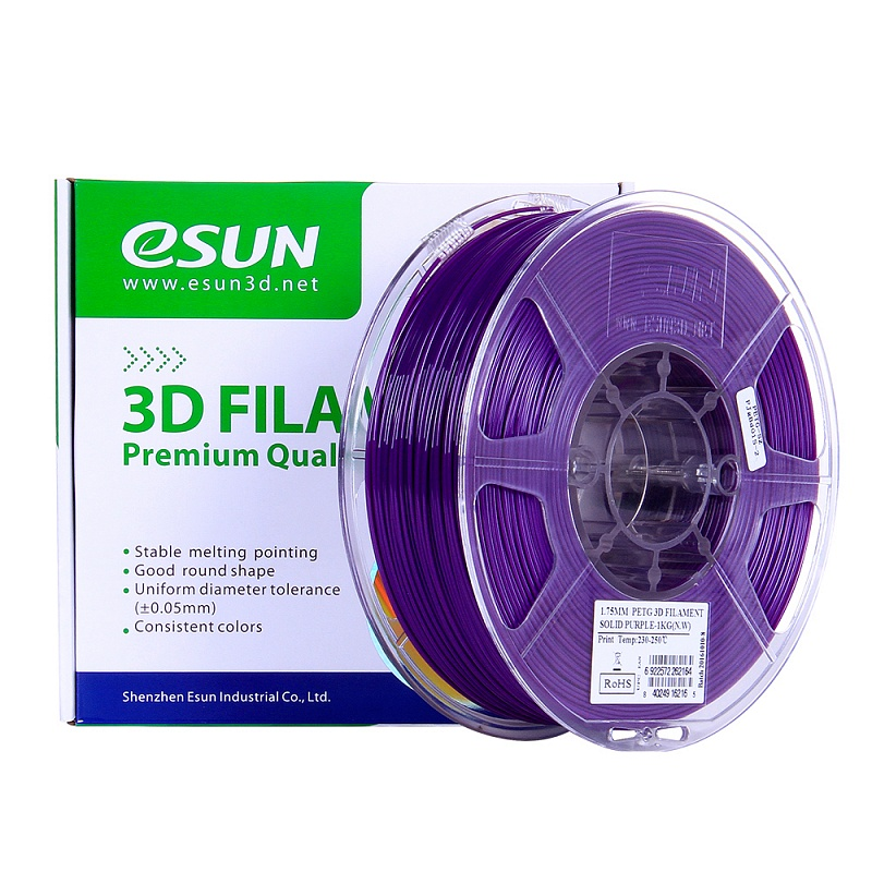 Фото PETG-пластика ESUN 1.75 мм 1кг., пурпурный 3