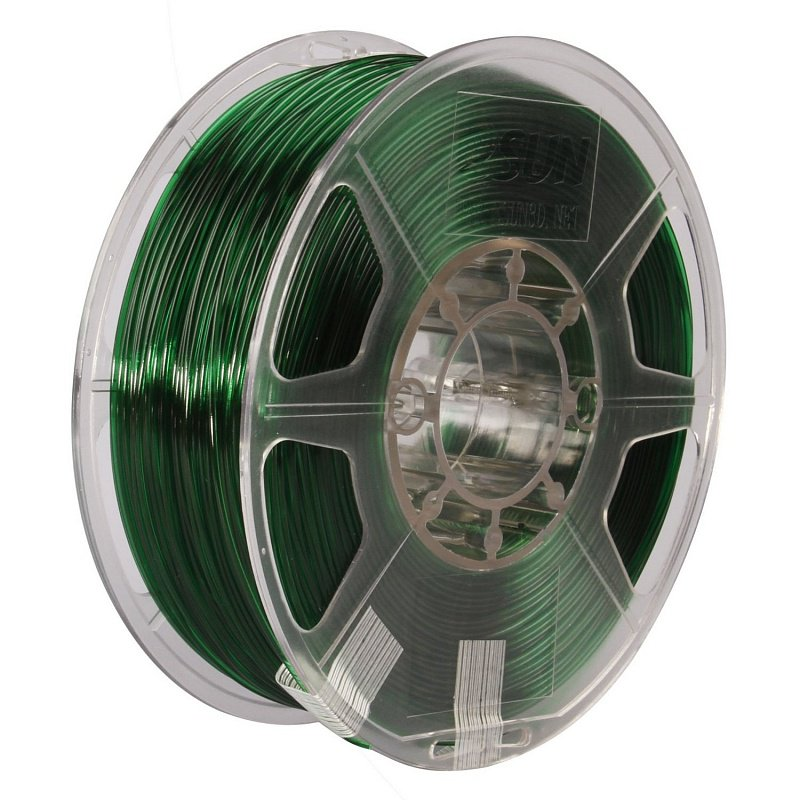 Фото PETG-пластика ESUN 1.75 мм 1кг., зелёный 1