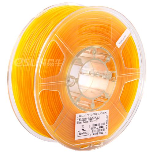 Фото PETG-пластика ESUN 1.75 мм 1кг., желтый 1