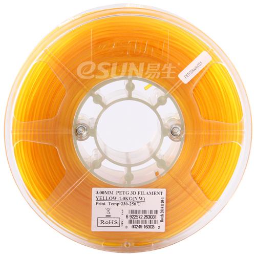 Фото PETG-пластика ESUN 1.75 мм 1кг., желтый 2