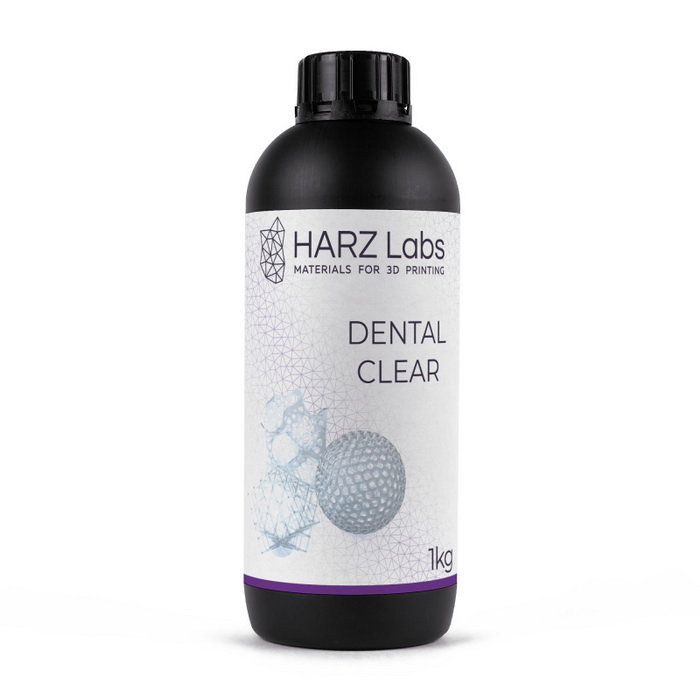 Фото фотополимера HARZ Labs Dental Clear SLA/Form-2 1 л