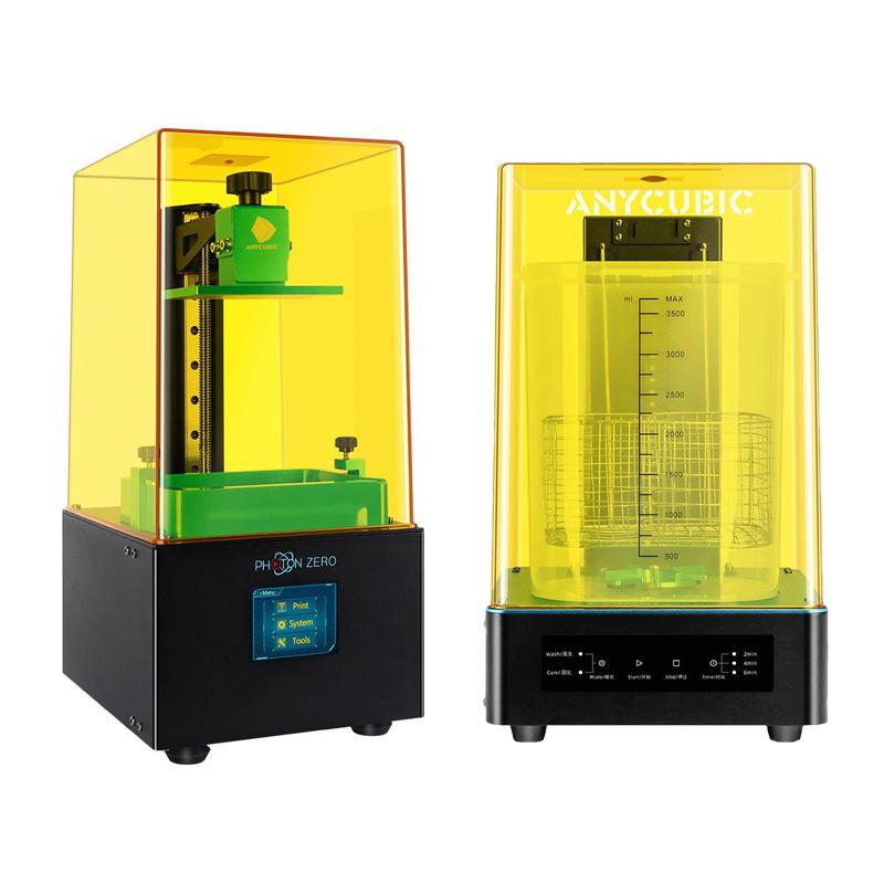 Фото 3D принтер Anycubic Photon Zero + Устройство 2в1 для УЗ-очистки и УФ-отверждения моделей Anycubic Wash 1
