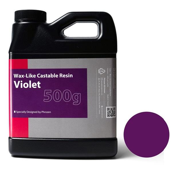 Фото фотополимера Phrozen Wax-like Castable фиолетовый (0,5 кг)