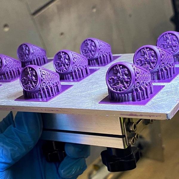 Изображение модели, напечатанной фотополимером Phrozen Wax-like Castable фиолетовый (0,5 кг) (3)