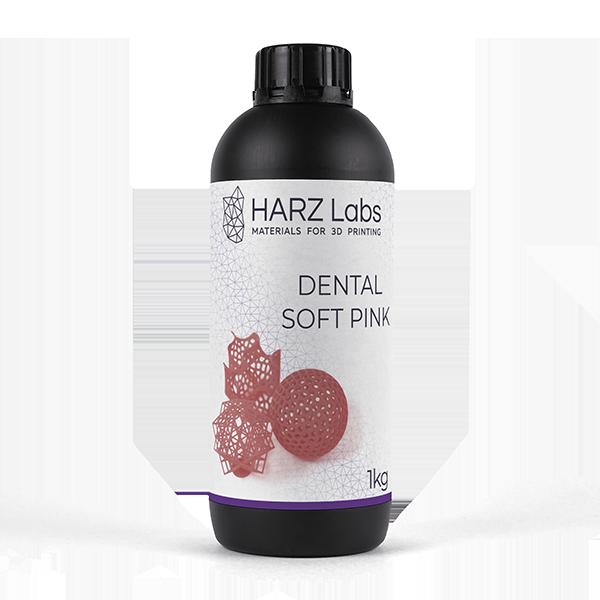 Фото фотополимера HARZ Labs Dental Soft Pink 1 кг 1
