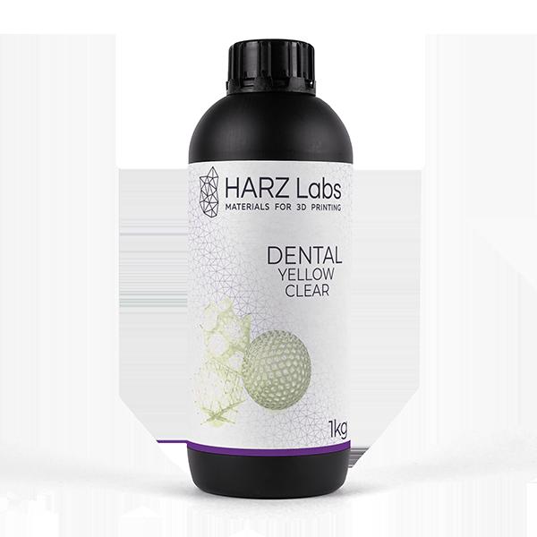 Фото фотополимера HARZ Labs Dental Yellow Clear 1 кг 1