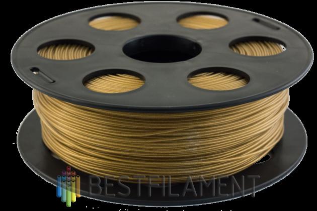 Фото пластика Bestfilament PETG золотистый металлик 1.75 мм, 1 кг