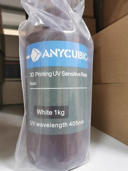 Фото фотополимерной смолы Anycubic Basic Белая 1л 2