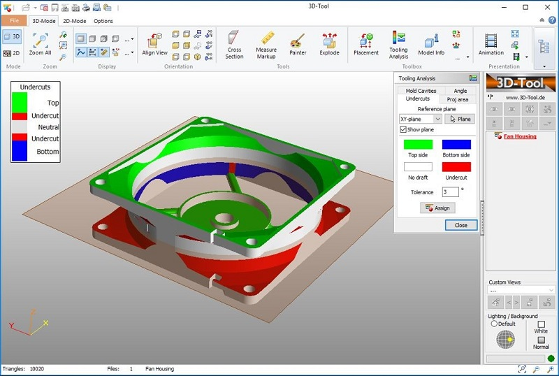 Фото программа 3D-Tool Free Viewer