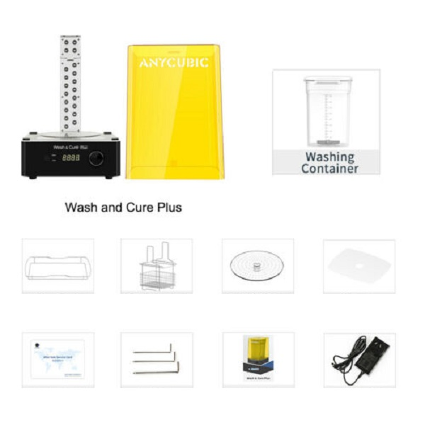 Фото Anycubic Wash and Cure Plus промывка и засветка моделей 2